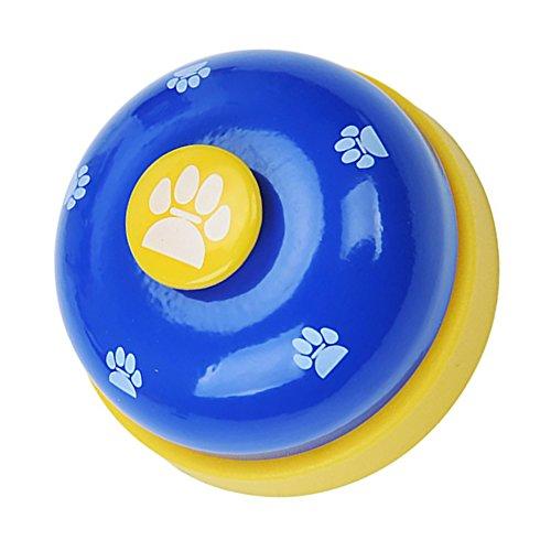 Lifepartner コールベル 呼び鈴 カウンターベル 受付 店舗 猫のおもちゃ ペットトレーニング鈴 (ブルー)