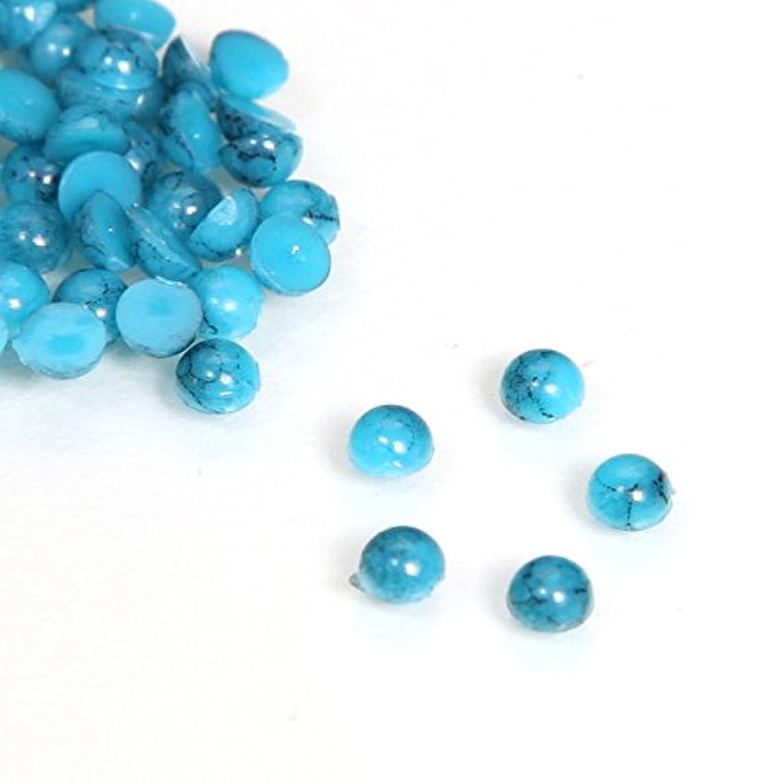 湿ったどうしたのバイオリニストターコイズ ラウンド ダークブルー 50粒 (3mm)