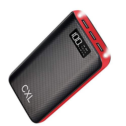 モバイルバッテリー 大容量 24000mAh 急速充電器 iPhone/Android 各機種対応 LEDライト付く 防災 /旅行/出張/に対応