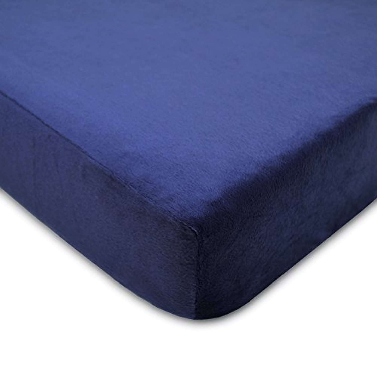 American Baby Company Heavenly Soft Chenille Fitted Crib Sheet, Navy by American Baby Company