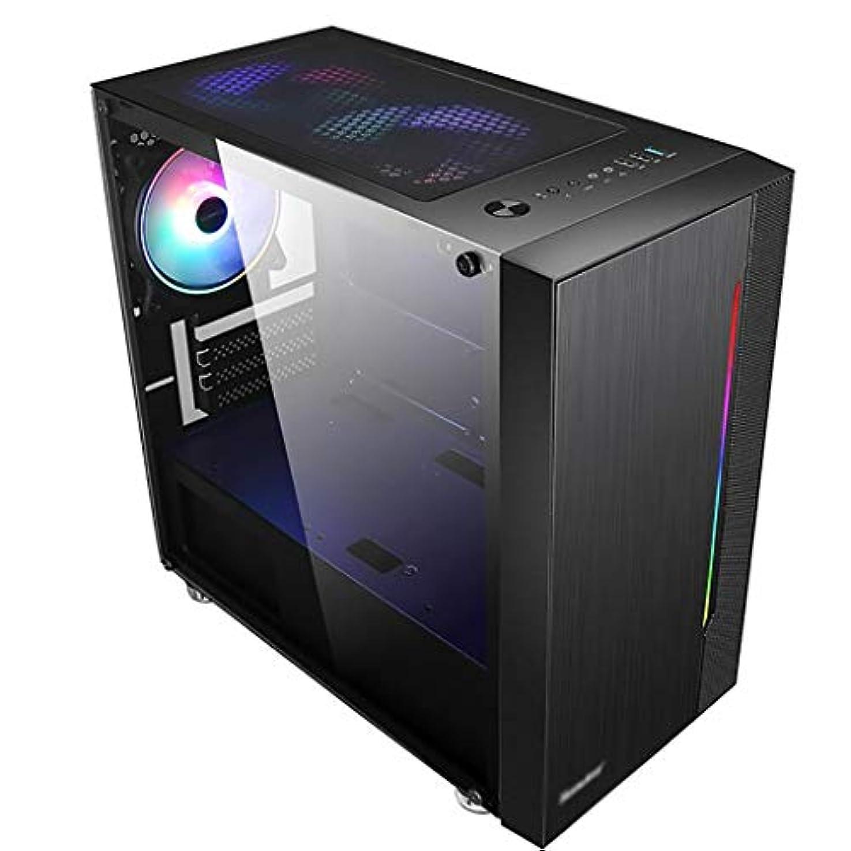 慈悲深い征服するピーブゲーミングケース、ミッドタワーM-ATX/ミニITX PCゲームコンピュータケース、アクリルガラス、ゲーム愛好家のためのサポート水冷、