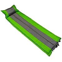 インフレータブルキャンピングパッド+枕と軽量パッドwith Stuff Sack。Perfect for Campingスカウト、または、祭スペアとしてベッド、グリーンとグレー – 73 ins Long x 22 ins Wide x 1 in厚