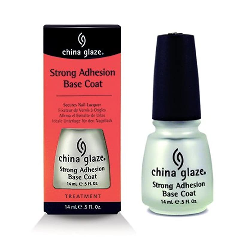 静かに血統遺伝的CHINA GLAZE Strong Adhesion Base Coat - CGT902 (並行輸入品)