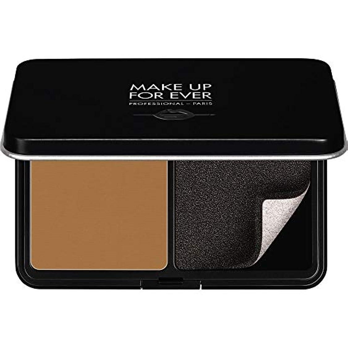 エレガント犠牲輪郭[MAKE UP FOR EVER] パウダーファンデーション11GののY505をぼかし、これまでマットベルベットの肌を補う - コニャック - MAKE UP FOR EVER Matte Velvet Skin Blurring Powder Foundation 11g Y505 - Cognac [並行輸入品]