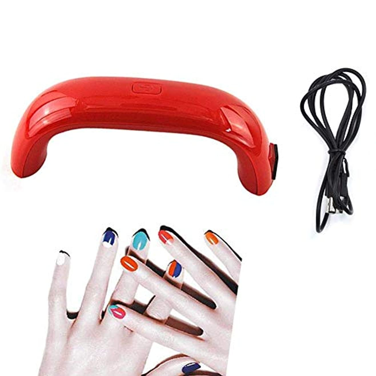 イタリアの瞑想的熱狂的なネイルドライヤー9WミニUSB LED UVランプ硬化用ネイルドライヤーネイルジェル用ポリッシュドライヤーマニキュアツールランプ用ネイル、写真の色