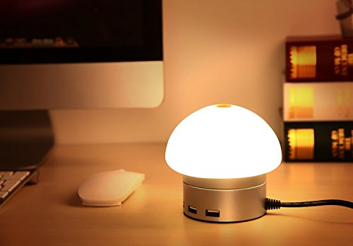 LEDライト ライトランプ LEDデスクライト 卓上スタンドテーブルランプ 卓上スタンド led 卓上スタンド目に優しい 癒しの灯, 【ELTD】オリジナル雰囲気電灯 led ヘッドライト USB充電灯 30W 6A 6ポート タッチセンサー 雰囲気を作り 照明・明度切替 三色可調節,卓上スタンド・テーブルランプ (ホワイト)