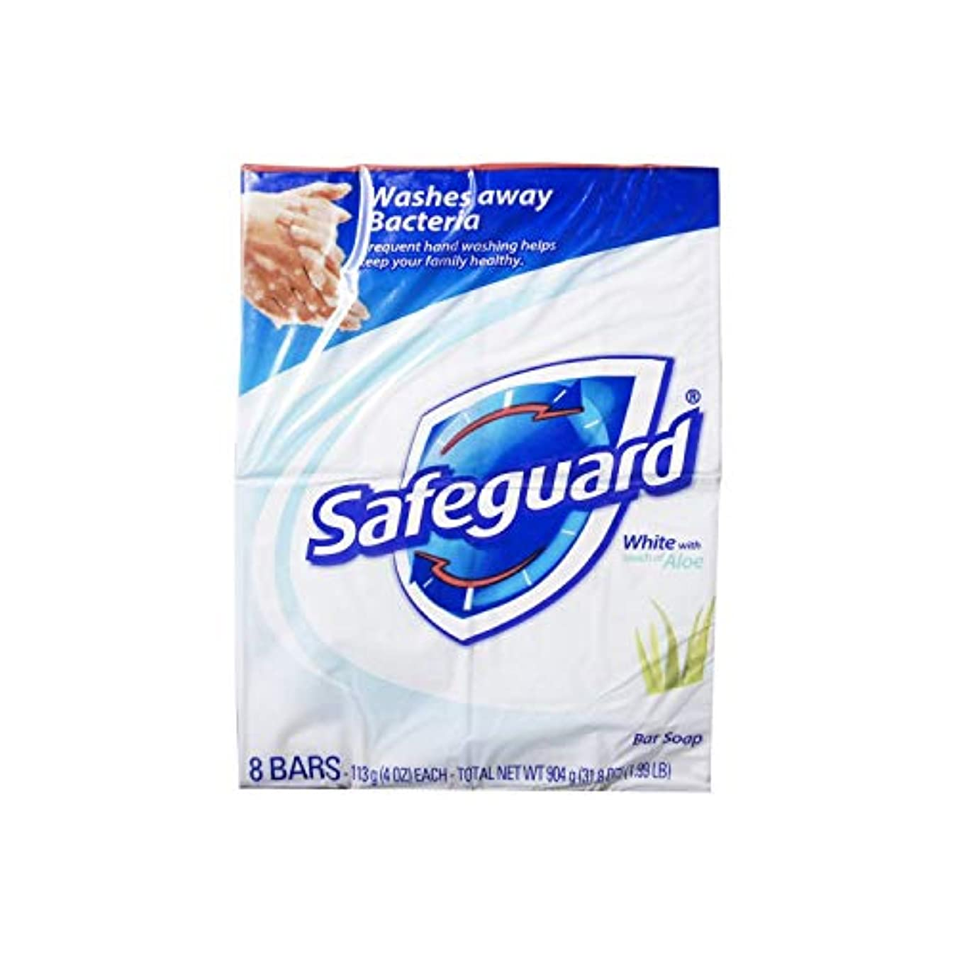 器官胚ねばねばSafeguard 抗菌石鹸、ホワイトアロエでは、4つのオズバー、8 Eaは(6パック)