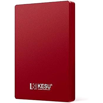 KESU 外付けHDD ポータブルハードディスク 320GB 2.5インチ USB3.0に対応 PC/Mac/PS4/XBox適用 (Red)