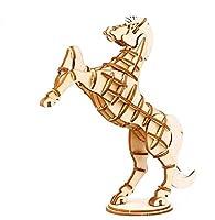子供のおもちゃ 創造的な木製3D動物パズルアーリーラーニングおもちゃファンタスティックギフト子供(馬)