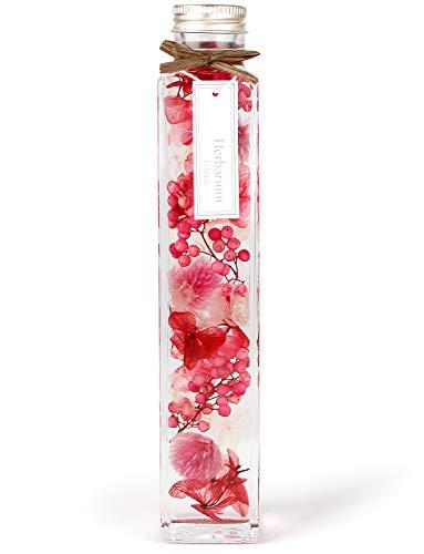 [フェリナス] ハーバリウム 角瓶(1本) ピンク 女性 ギフト 贈り物 誕生日 記念日 kaku-pink