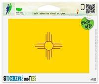 """新しいメキシコ州旗ビニール車バンパーウィンドウステッカー Small - 3"""" x 2"""" n920A"""