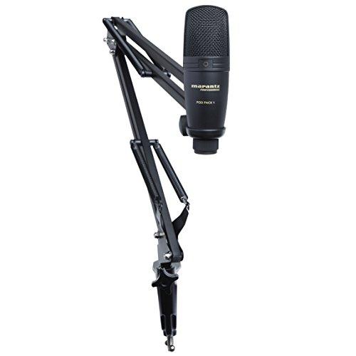 Marantz Professional 放送・配信用 USB コンデンサーマイク・ブームアームスタンド付き Pod Pack 1 B01GHUA3XA 1枚目