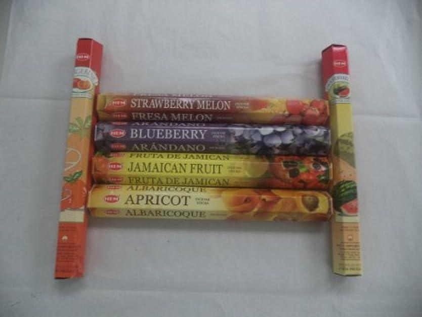 手段ドロー外出Hem Fruitさまざまなお香セット6 x 20 = 120 Sticksさまざまなギフトパック