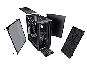 Fractal Design Meshify C Blackout Tempered Glass PCケース CS6884FD-CA-MESH-C-BLO-TG