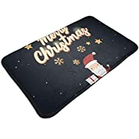 Merry Christmas Santa Pattern Door Mat Rug Indoor/Outdoor/Front Door/Bathroom Mats Floor Mat Welcome Doormats