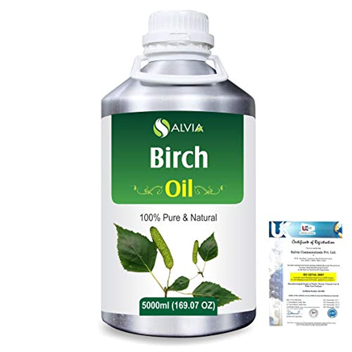実現可能性夏傭兵Birch (Betula Pendula,Betula Alba) 100% Natural Pure Essential Oil 5000ml/169fl.oz.