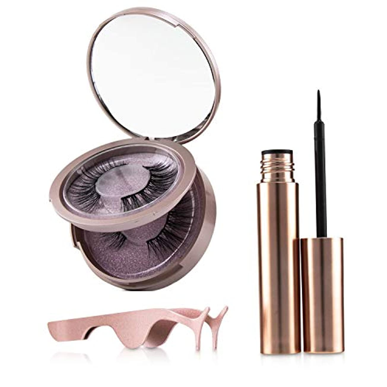 母音コマンドバイナリSHIBELLA Cosmetics Magnetic Eyeliner & Eyelash Kit - # Attraction 3pcs並行輸入品