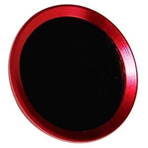 オウルテック 指紋認証機能対応 ホームボタンシール ワインレッドフレーム/ブラック