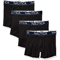 Nautica Mens M71914 Cotton Stretch 4 Pack Boxer Brief Boxer Briefs