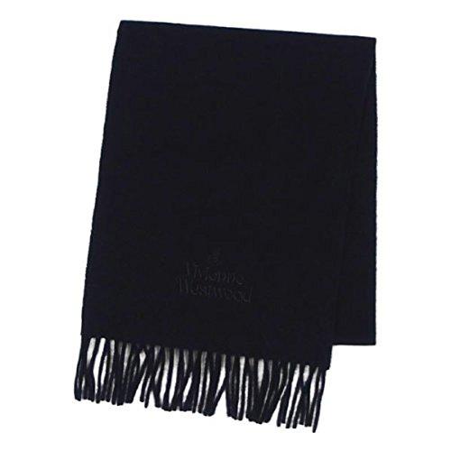 (ヴィヴィアンウエストウッド) Vivienne Westwood シンプル ロゴ刺繍 マフラー ブラック [並行輸入品]