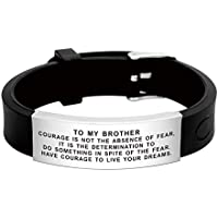 FALOGIJE Inspirational Wristband Bracelet Gift Idea to My Brother in Law on Her Wedding Day from Sister Brother