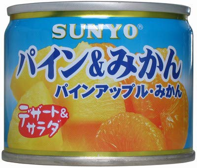 サンヨー堂 サンヨー デザート&サラダ パイン&みかん EO 8号缶X12缶