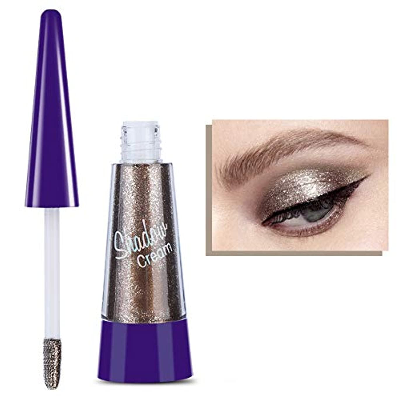 液体光沢アイシャドウ、目のための耐久性のある防水化粧品、華やかなアイメイクを作成する、ショッピングや会議やパーティーに適している(02)