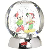 Department 56 ディズニー クラシックブランド ミッキーとミニー ウォーターダズラー ウォーターボール 4.5インチ スノードーム マルチカラー