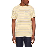 Wrangler Men's Vedder Tee, Yellow Stripe