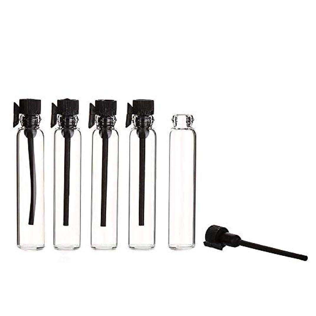 シミュレートする供給梨YouPei® 2ml ミニサンプルかわいいガラス旅行オイル香水瓶ドロップスプレー空のサンプルボトルエッセンシャルオイル-50個