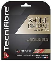 Tecnifibre X-One Biphase マルチフィラメント テニスラケット ストリングセット - 16、17、18ゲージ レッドカラー - マルチパック - パワーと快適に最適 (2-46-8-パック) 2 Sets