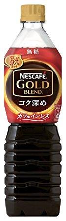 ネスカフェ ゴールドブレンド コク深め ボトルコーヒー カフェインレス 無糖 900ml×24本(12本×2ケース)