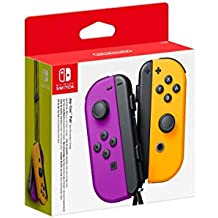 Nintendo Switch Joy Con Neon Purple and Neon Orange Pair