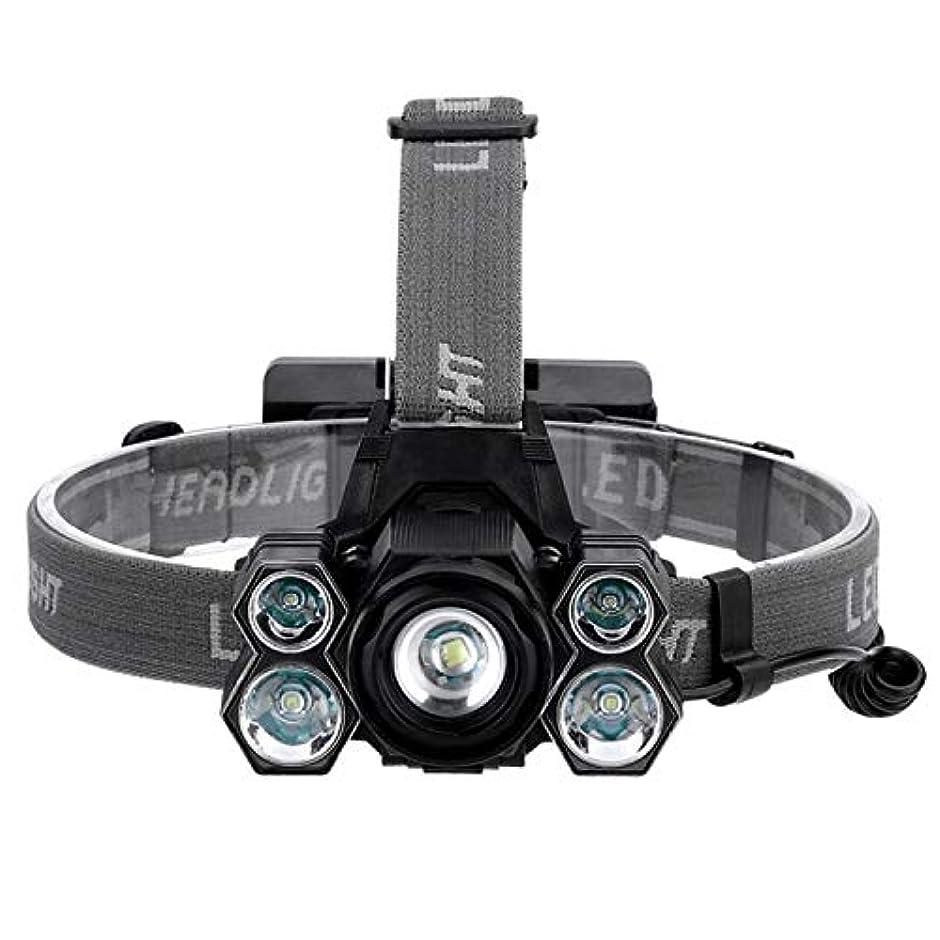 シンボル区別スーパーブライト強力なヘッドランプ、LEDヘッドライト、屋外T6グレア照明、USB充電、キャンプフィッシング用ハイキング自転車