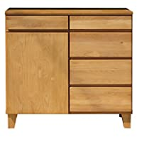 ISSEIKI サイドボード ナチュラル 幅80cm 飽きの来ないデザイン 木製家具 BASK 80 SB (NA)