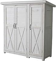 ■物置 倉庫 収納庫 屋外 天然木 木製 庭 物入れ おしゃれ 大型 北欧 ナ/ホワイト(WH)