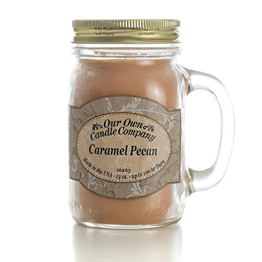 開業医モチーフ移行するアロマキャンドル メイソンジャー キャラメルピーカン ビッグ Our Own Candle Company Caramel Pecan big