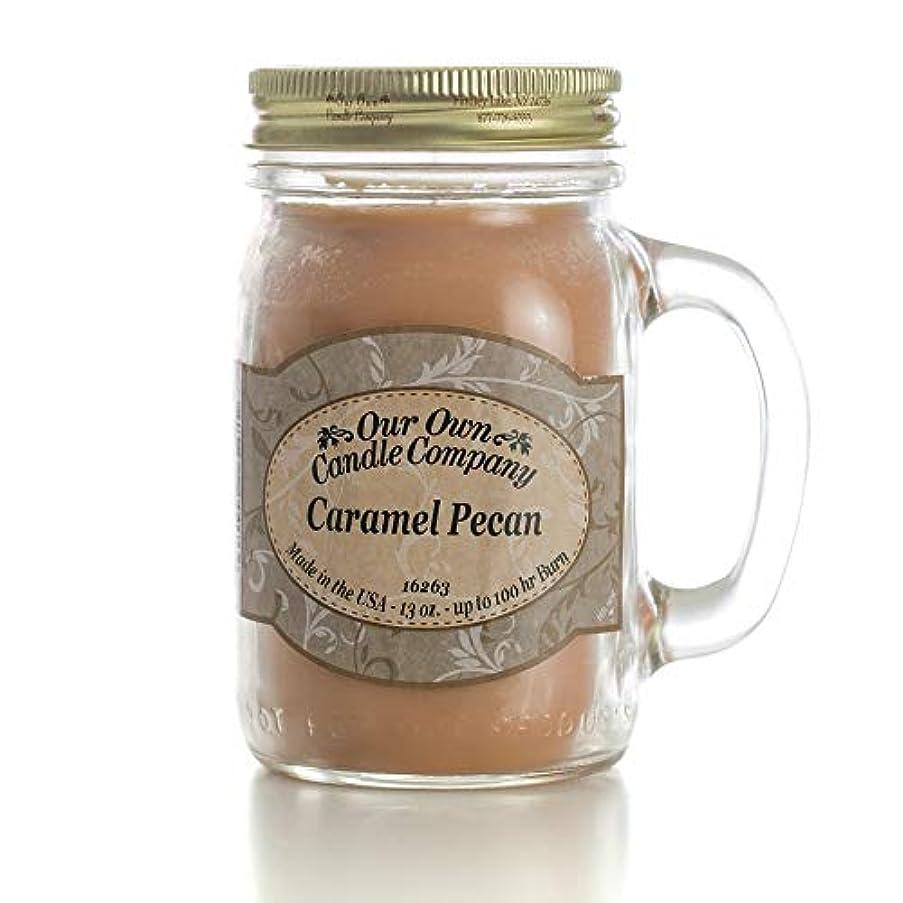 避けるパズル飲料アロマキャンドル メイソンジャー キャラメルピーカン ビッグ Our Own Candle Company Caramel Pecan big