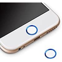 ホームボタンシール Sakula 指紋認証可能 iPhone7 iPhone7 Plus iPhone6s iPhone6 Plus iPhone5s iPad miniなど対応 ホームボタンシール(ブルーフレーム/ホワイト)