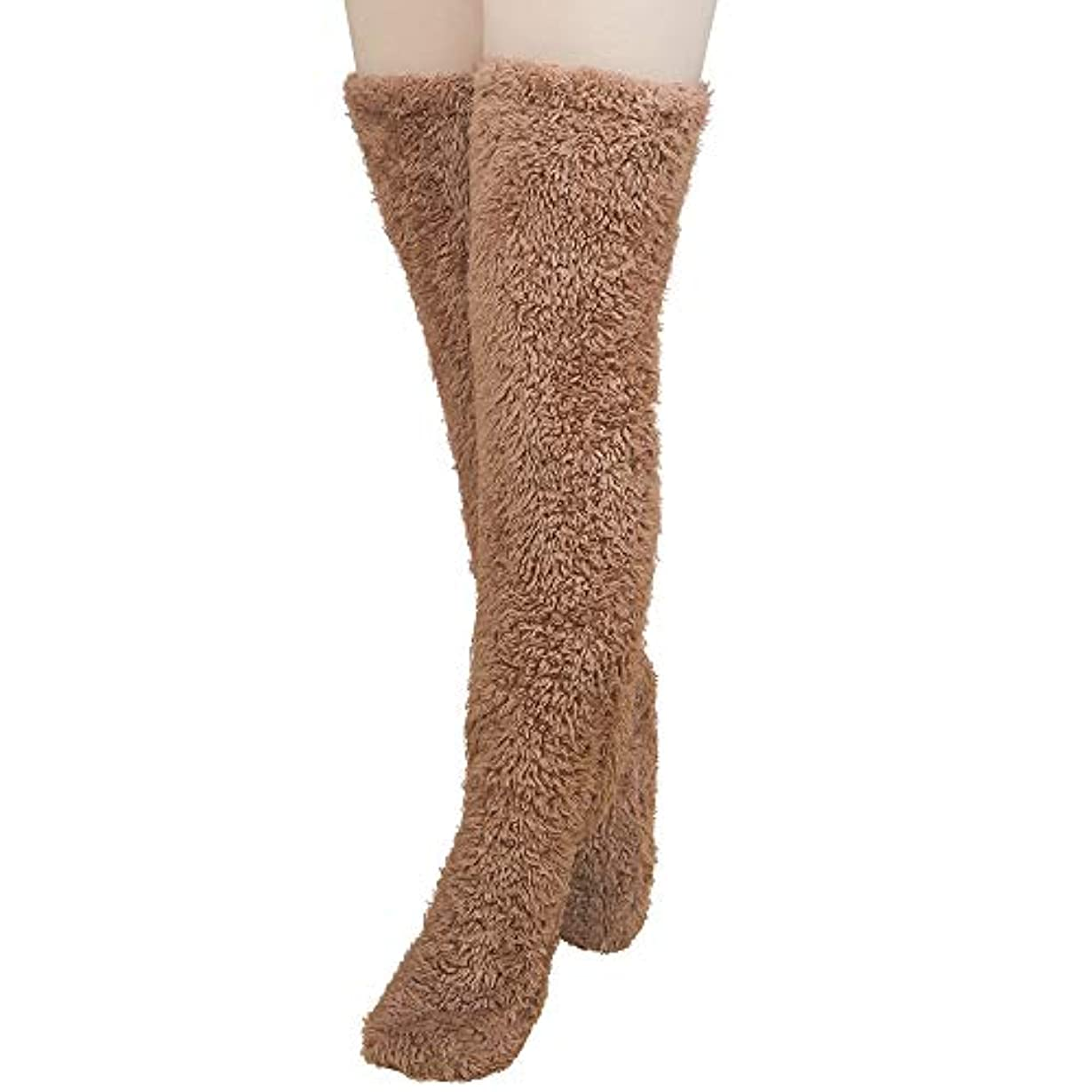 秘密のホースギターMiuko 足が出せるロングカバー 極暖 レッグウォーマー ふわふわ靴下 ロングソックス 冷えとり靴下 毛布ソックス 冷え対策 防寒ソックス あったか 超厚手 男女兼用