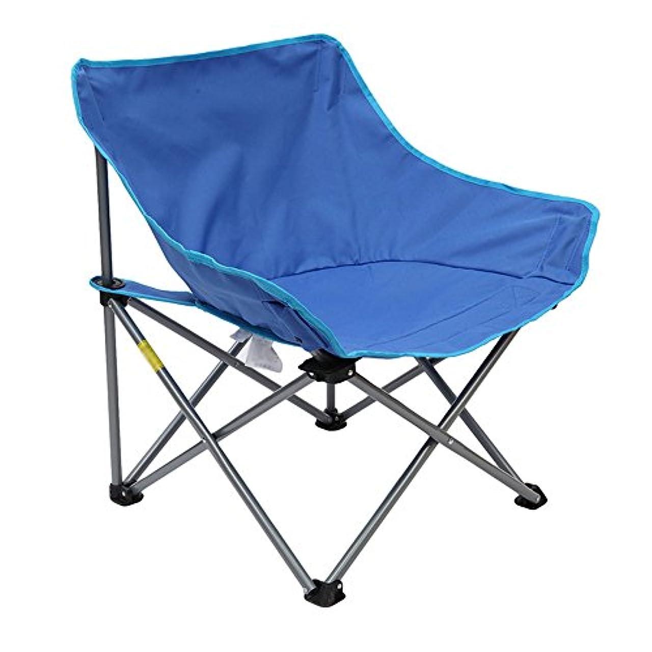 オークランド上へ誤解Djyyh キャンプ用チェア軽量折りたたみチェア、ハイキング、釣り、ビーチヘビーデューティー用キャリーバッグ付き (Color : Blue)