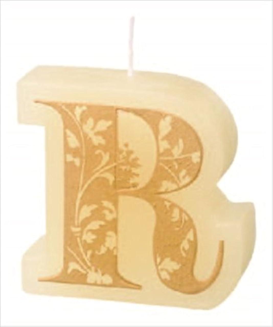 オーストラリア人オレンジナサニエル区カメヤマキャンドル(kameyama candle) イニシャルキャンドルミニ 「 R 」