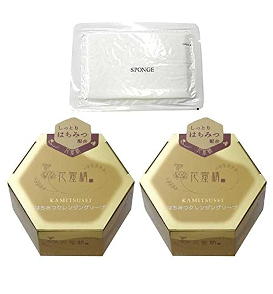 セブンストレンジャー無数の花蜜精 はちみつクレンジングソープ 85g 2個 + 圧縮スポンジセット