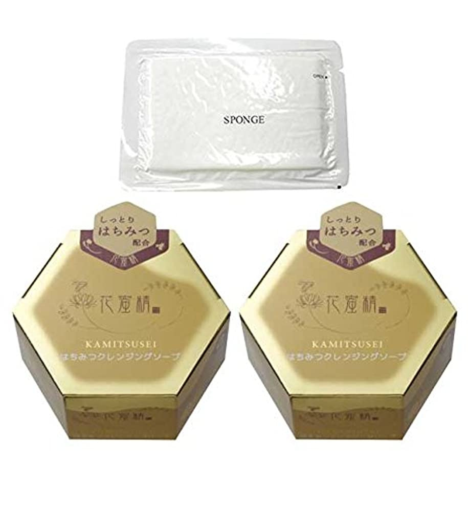 パブ豊富にラフ花蜜精 はちみつクレンジングソープ 85g 2個 + 圧縮スポンジセット
