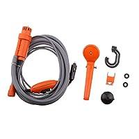 Lovoski バイク オートバイ 洗車用品 便利な 高圧洗浄機 自動車シャワー セット 12V 全2色 - オレンジ