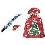 鬼滅の刃 DX日輪刀 + インディゴ クリスマス ラッピング袋 グリーティングバッグ3L クリスマスツリー レッド XG983