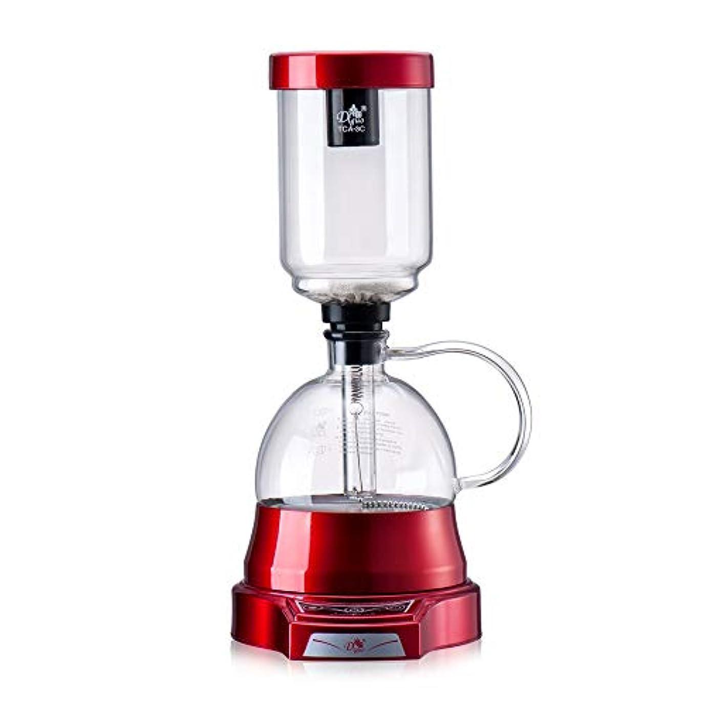 ベール適度な勤勉なXLEVE 和風電気サイフォンコーヒーメーカーカップ真空コーヒーマシンビールドリップティーサイフォンガラスポットフィルターエスプレッソメーカー (Color : Black)