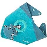 Malarkey Kids - Buddy Bib - Sensory Teething Toy and Bib (Blue) [並行輸入品]