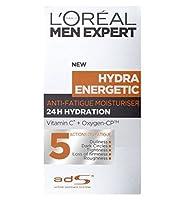 ロレアルの男性の専門家ヒドラエネルギッシュな毎日の保湿クリーム50Ml (L'Oreal) (x2) - L'Oreal Men Expert Hydra Energetic Daily Moisturiser 50ml (Pack of 2) [並行輸入品]