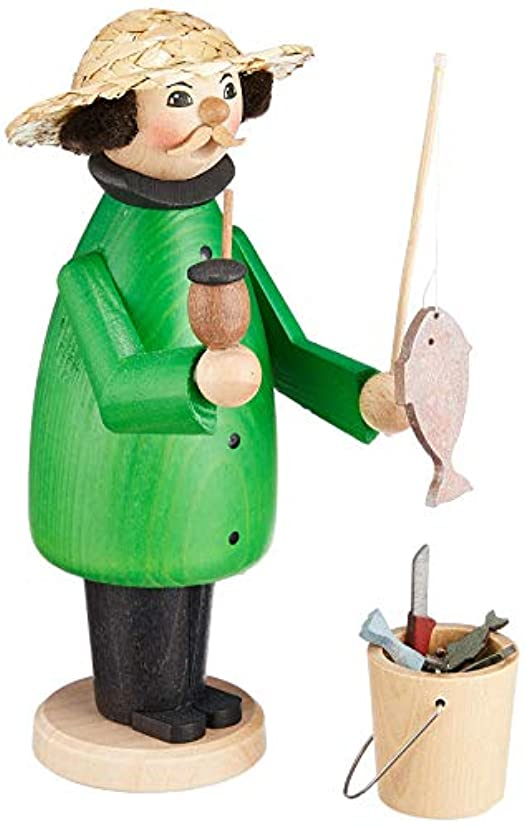トレース臨検正規化kuhnert ミニパイプ人形香炉 釣り人